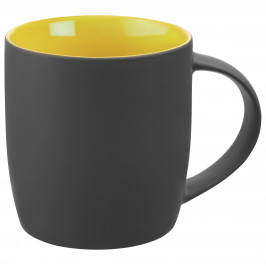 Кружка Surprise Touch c покрытием софт-тач, желтая